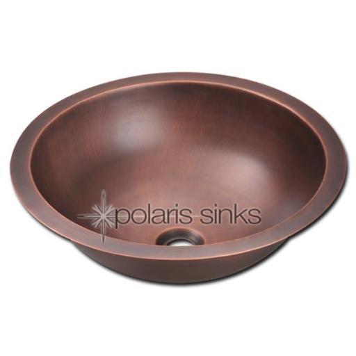 Polaris Sink P229 Single Bowl Copper Bathroom Sink