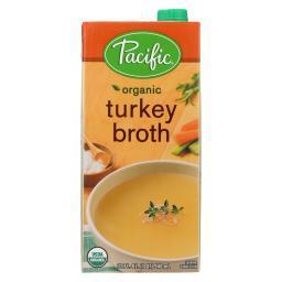 Pacific Natural Foods Turkey Broth - Organic - Case of 12 - 32 Fl oz.