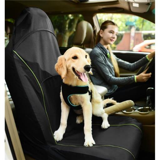 Pet Life CRT1BK Open Road Mess Free Single Seated Safety Car Seat Cover Protector, Black - One Size