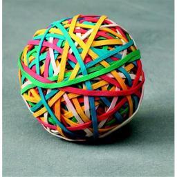 School Smart 090668 Economy Rubber Band Ball, Multiple Color