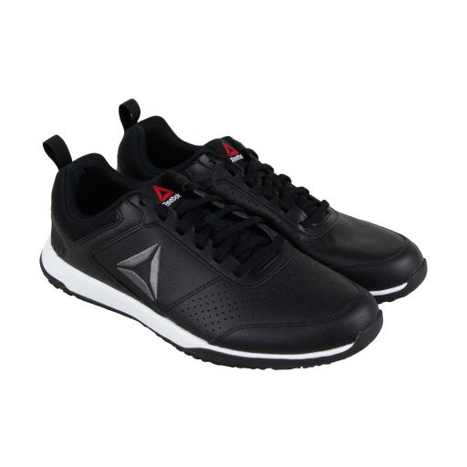 f64a55ce0 Reebok Reebok Cxt Tr Mens Black Leather Athletic Lace Up Training Shoes