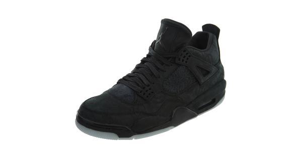 b07f46390fbe JORDAN Jordan 4 Retro Kaws Black Mens Style   930155 ...
