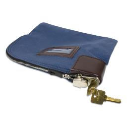 Fabric Deposit Bag Locking 8.5 X 11 X 1 Nylon Blue   Total Quantity: 1