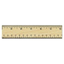Universal Office Products 59021 12 in. Flat Wood Ruler with Double Metal Edge, Clear Lacquer