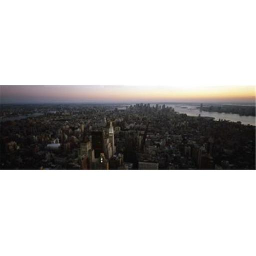 Panoramic Images PPI109538L Aerial view of a city Lower Manhattan and Financial District Manhattan New York City New York State USA Poster Print