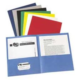 Avery Consumer Products AVE47985 Two Pocket folder- 8-.50in.x11in.- W-O Fasteners- Dark Blue