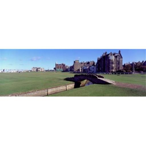 Panoramic Images PPI52776L Footbridge in a golf course The Royal and Ancient Golf Club of St Andrews St. Andrews Fife Scotland Poster Print by Pan