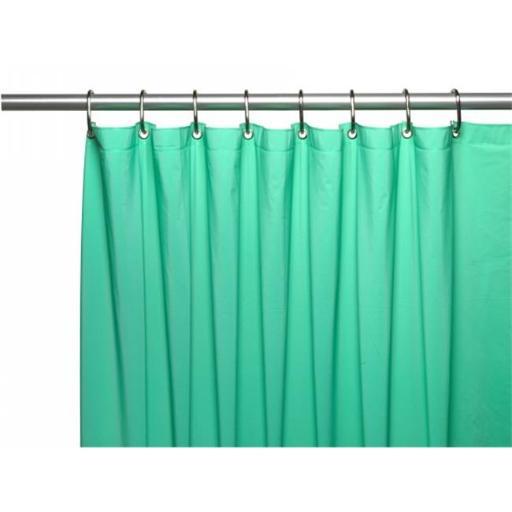 Carnation Home Fashions USC-4-06 4 Gauge Vinyl Shower Curtain Liner, Jade