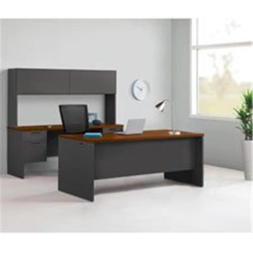 Modular Desk Furniture - Cherry Charcoal