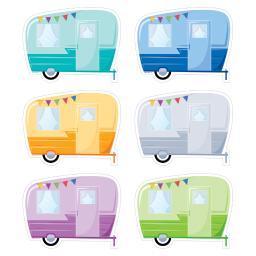 Creative teaching press 3 pk vintage trailers 6in cut 5955bn