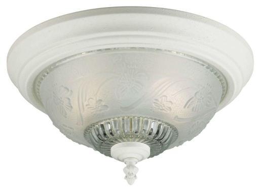 Westinghouse 66162 Two Light Interior Flush Mount Ceiling Fixture, 13-1/4