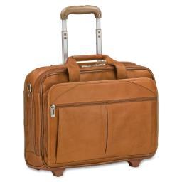 Solo d529-1 executive leather checkfast rolling case