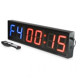 Valor Fitness ST-24 Wall-Mounted Cross-Training Gym Timer with Remote Control, Black - Aluminum Alloy