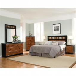Cambridge 98115A5Q1-CH 5 Piece Westminster Bedroom Suite - Queen Bed, Dresser, Mirror, Chest & Nightstand