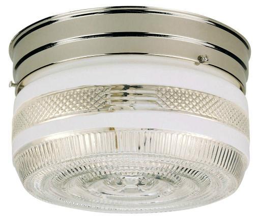 Westinghouse 66240 Two-light Interior Flush-mount Ceiling Fixture, Chrome