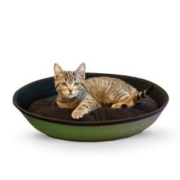 K&H Pet Products 5102 Green / Black K&H Pet Products Mod Sleeper Cat Bed Small Green / Black 18.5 X 14