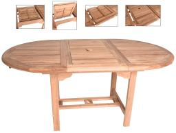 Zenvida Teak Extendable Dining Table, Oval