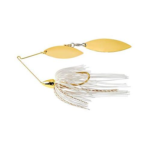 War eagle spinner baits we gld dbl wil spinnerbait wht gld we38gw01g