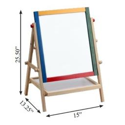 Omni Wooden Toys 969029 Double Sided 2 In 1 Magnetic Art Easel