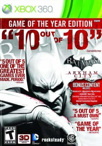 Batman: arkham city game of the year YR5DJ7INEEPRHGHZ