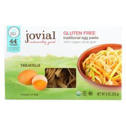 Jovial Pasta - Organic - Brown Rice - Traditional Egg Tagliatelle - 9 oz - case of 12
