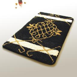 Naomi - Royal Black Luxury Home Rugs (19.7 by 31.5 inches)