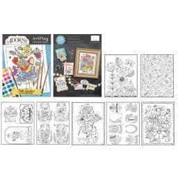 AdornIt ArtPlay Coloring Book-Folk Garden