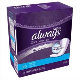 Always 50 Count Unscented Dry Liners - Pack Of 12