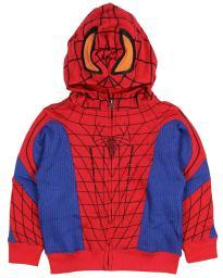 Marvel Spider-Man Little Boys Toddler Zip Up Character Hoodie