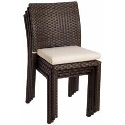 International Home Miami PLI LIBER SIDE4 Atlantic Liberty Side Chair Set 4 PCS