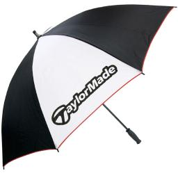 "TaylorMade Golf Single Canopy 60"" Umbrella - Black/White/Red"