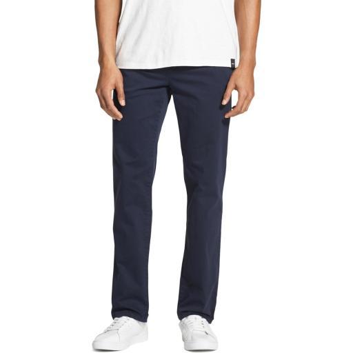 DKNY Mens Solid Slim Straight Leg Pants