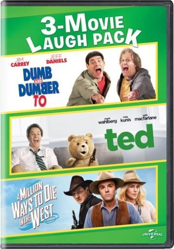 Dumb & dumber to/ted/million ways to die in the west 3-movie laugh pack(dvd TANZDIHYJZBHOG1R