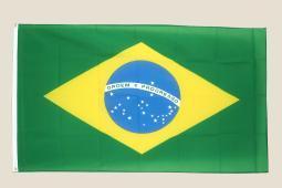Brazil 3x5 Flag Green Yellow Blue Polyester 2 Brass Grommets Brazilian
