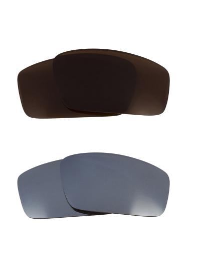 Best SEEK Replacement Lenses for Oakley SQUARE WIRE (2006) Brown Silver Mirror