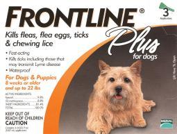 Frontline Plus Liquid Dog Flea and Tick Drops 9.8% Fibronil, 8.8% (S)-methoprene 0.02 oz. - Case Of: 1;