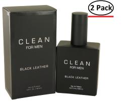Clean Black Leather by Clean Eau De Toilette Spray 3.4 oz for Men (Package of 2)