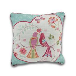 Love Birds by Daphne Brisonnett Reversible Decorative Throw Pillow 18in.
