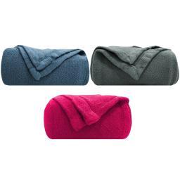 "Homvare Blanket/Throw Super Soft Cotton Geometric 90"" x 90"" Queen"