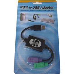 Adesso ADP-PU21 - PS/2 to USB Adapter, connects 2 PS/2 connectors to 1 USB port/hub