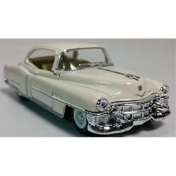 Kinsmart 1953 Cadillac Series 62 Eggshell White 2 Door Coupe 1/43 O Scale Diecast Car
