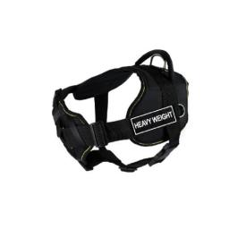 Dean & Tyler 22 to 27-Inch Heavy Weight Fun Harness with Padded Chest Piece, Small, Black with Yellow Trim
