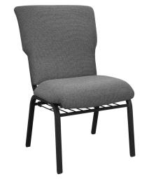 "Offex 21"" Wide Black Marble Discount Molded Foam Church Chair"