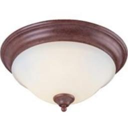 BOSTON HARBOR BRT-ATE1013-RB 0669572 Dimmable Ceiling Light Fixture, (3) 60/13 W Medium A19/Cfl Lamp, Rustic, Brown