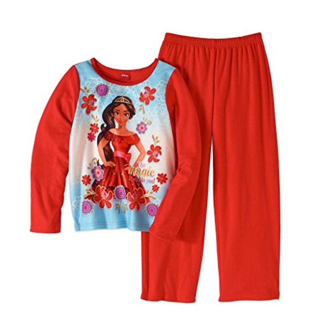 AME Elena of Avalor Girls 2 Piece Flannel Pajama Set (10/12)