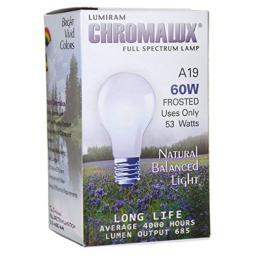 Chromalux Light Bulb Frosted-60w - 1 Bulb by Chromalux