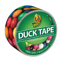 DuckTape 284568 Printed Duct Tape, Gumballs, 1.88 Inches x 10 Yards, Single Roll