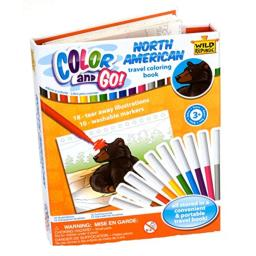 Wild Republic Wilderness, Color & Go, Coloring Books for Toddlers, Stem Activities, 18 Pages