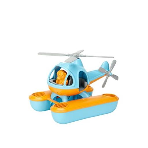Green Toys Seacopter, Blue/Orange Made in the USA*100% Recycled Plastic*Dishwasher Safe*No BPA, phthalates, PVC, or external coatings