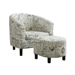Offex OFX-410107-MO 2 Piece Accent Chair Set - Vintage French Fabric